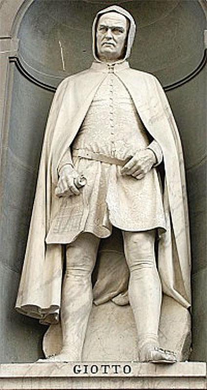 烏菲茲美術館的喬托雕像。(Frieda/維基百科)