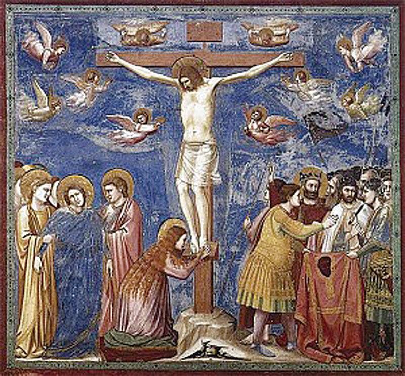 斯克羅威尼禮拜堂中第35幅壁畫〈耶穌受難圖〉。(公共領域)