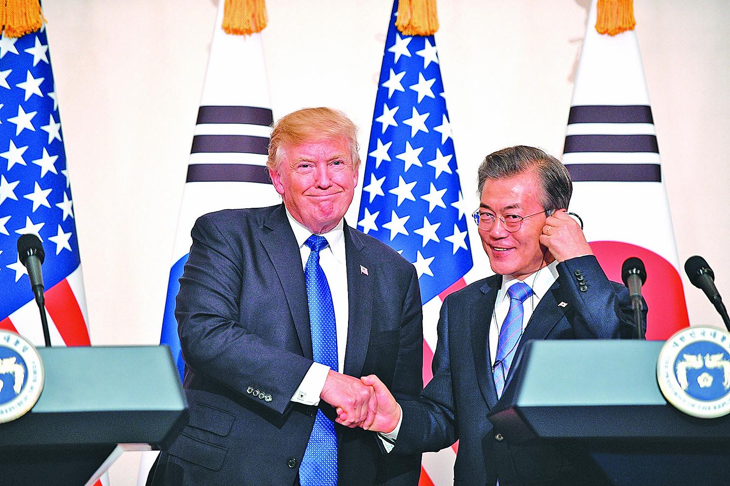 特朗普告訴文在寅:適當時機美國可與北韓對話