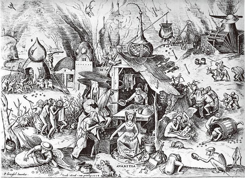 圖為西方普遍認為的人類七宗罪之一的貪婪。(維基百科)