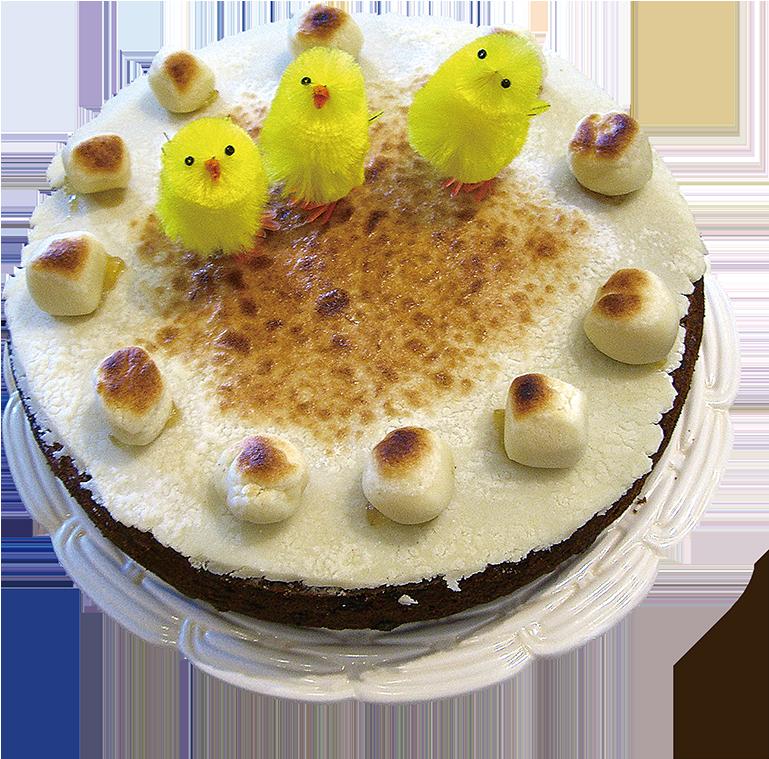 英國人在復活節和母親節都會烘焙杏仁蛋糕(也叫「母親節蛋糕」或「重油水果蛋糕」)。(Edward/Flickr)