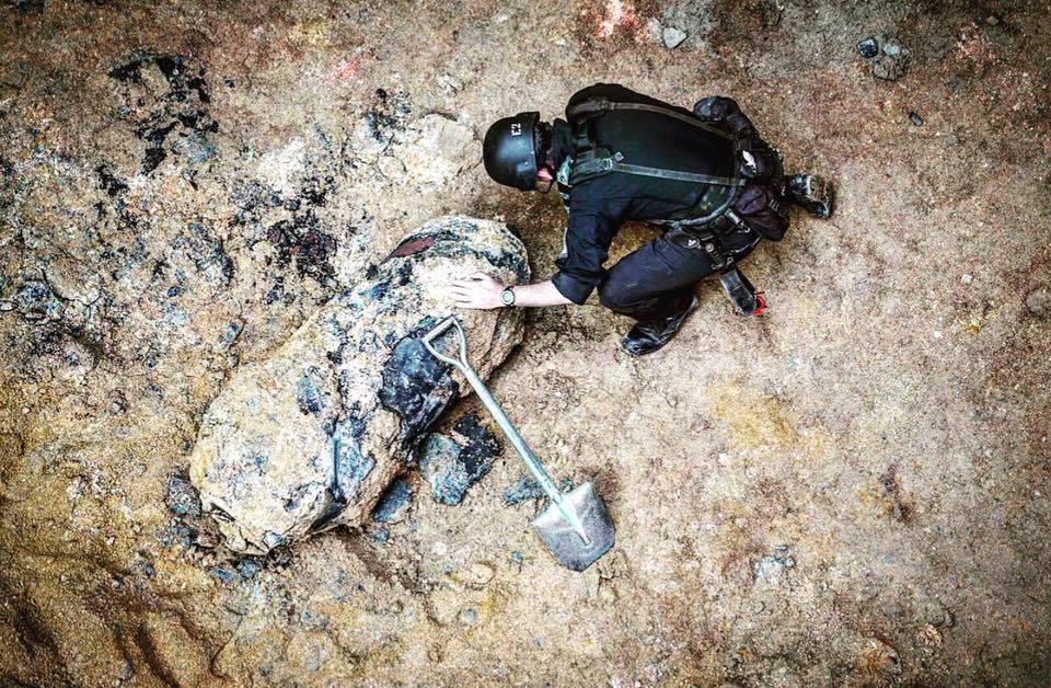 灣仔沙中線地盤發現空投炸彈 警方通宵拆彈