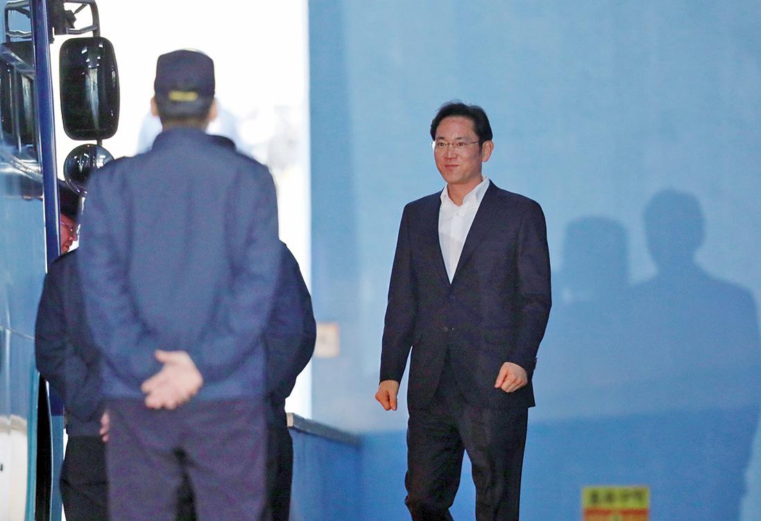 三星李在鎔二審改判緩刑獲釋