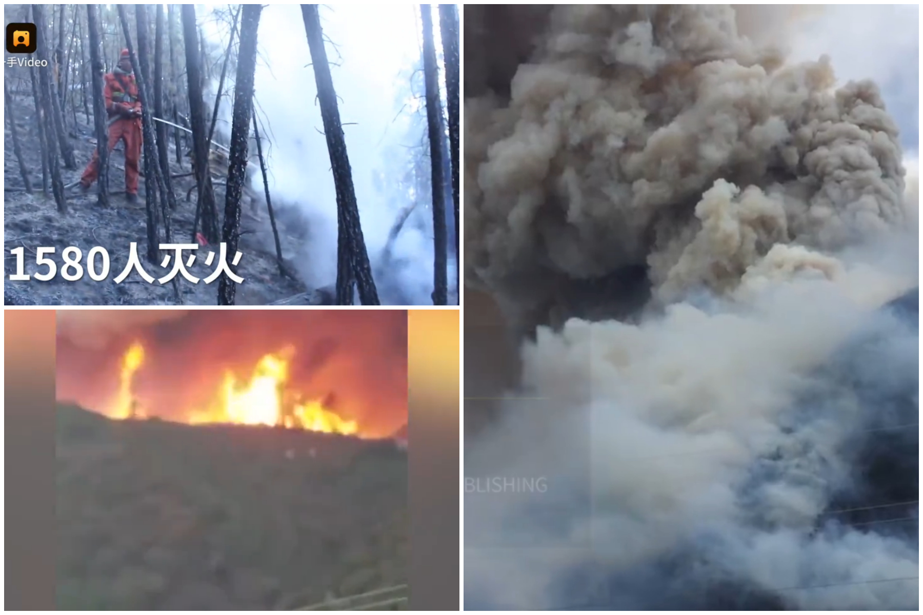 四川雅江發生森林火災 屬人為失火