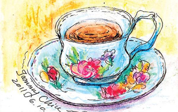 著迷咖啡杯