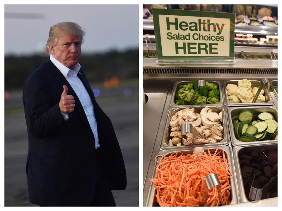 特朗普捨巨無霸漢堡 改吃沙律