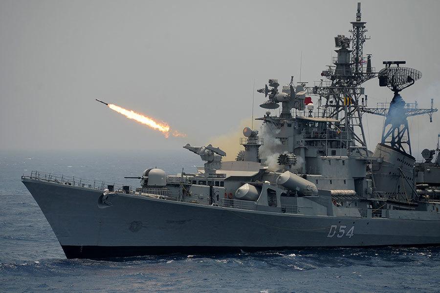 俄媒:途中遇印度三軍演習 中共艦隊急迴轉