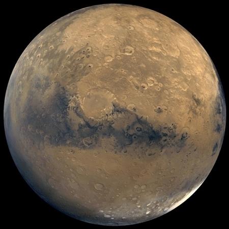 火星——神秘的紅色星球。(NASA/JPL-Caltech/USGS)