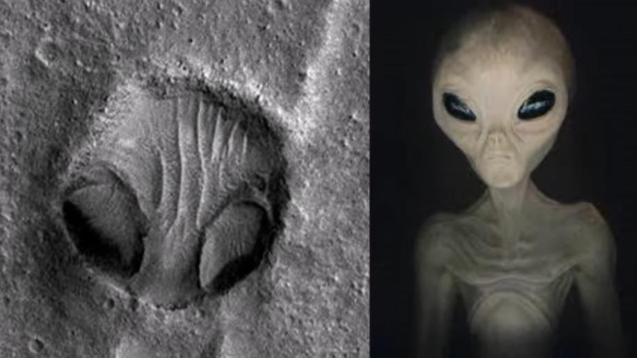 火星上 NASA拍到「外星人的頭」