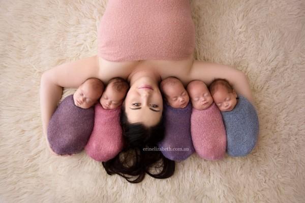 澳媽媽曬五胞胎合照 網絡熱傳
