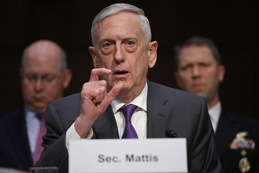 馬蒂斯敦促國防授權法案包含反中共措施