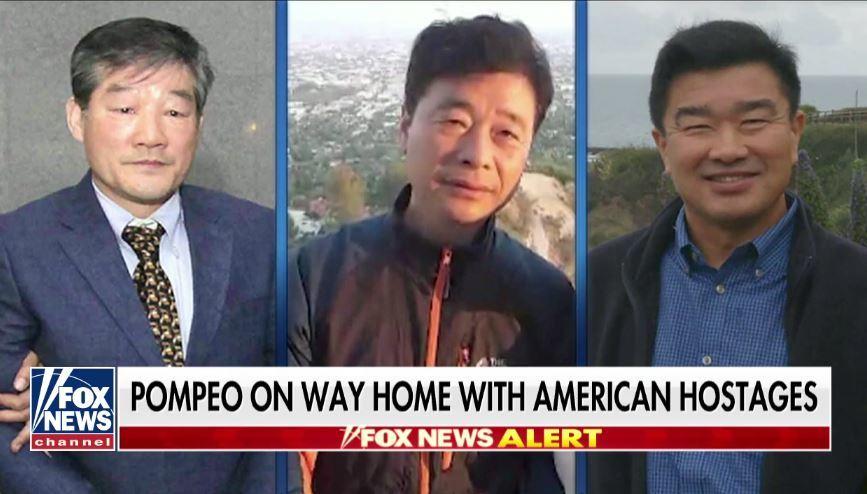 特朗普:三名被北韓拘留美國人獲釋