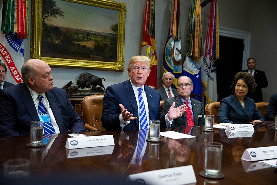 特朗普提議對進口汽車徵收20%關稅 提高七倍