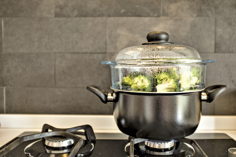 研究指出,用清蒸的方式烹調西蘭花,營養流失最少。