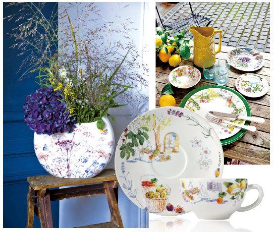讓蕭太一見鍾情的,具有近兩百年歷史的法國著名陶瓷Gien,每件都堪稱藝術佳作。Gien也是法國的陶瓷重鎮,以高品質陶瓷聞名世界。在Gien,幾乎家家都必備Gien品牌的陶瓷。上圖為Gien製作的以Gien小鎮的風景為題材的系列產品。