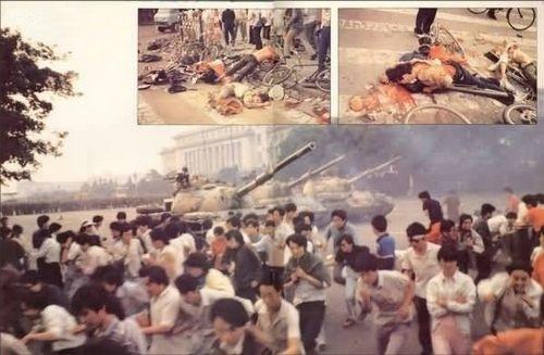 組圖:六四事件 中共坦克橫衝天安門廣場