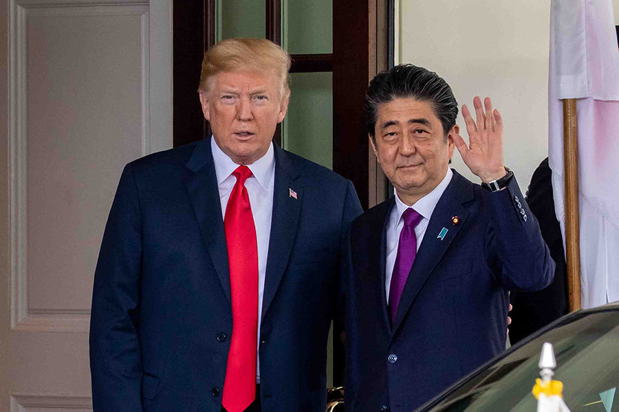 特朗普和安倍白宮會晤 為美朝峰會做好準備