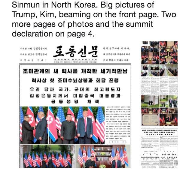 罕見報道「世紀之會」 北韓官媒盛讚特朗普