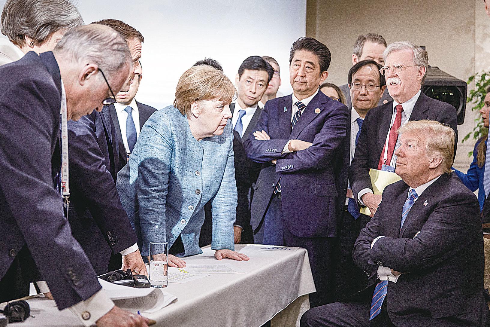 默克爾發G7照片 中共為何如打雞血
