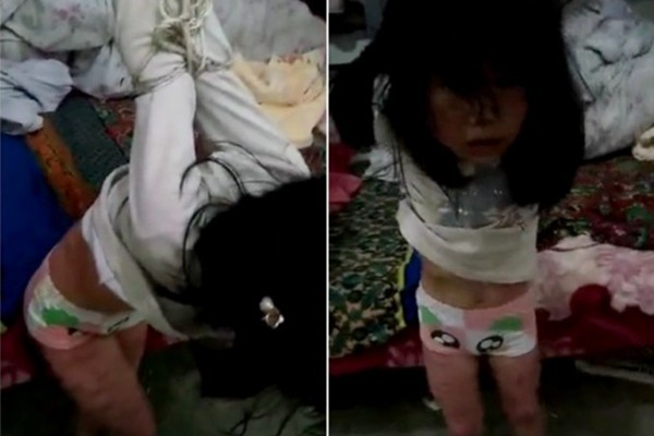 大陸再爆虐童事件 女孩被反綁吊床邊毒打