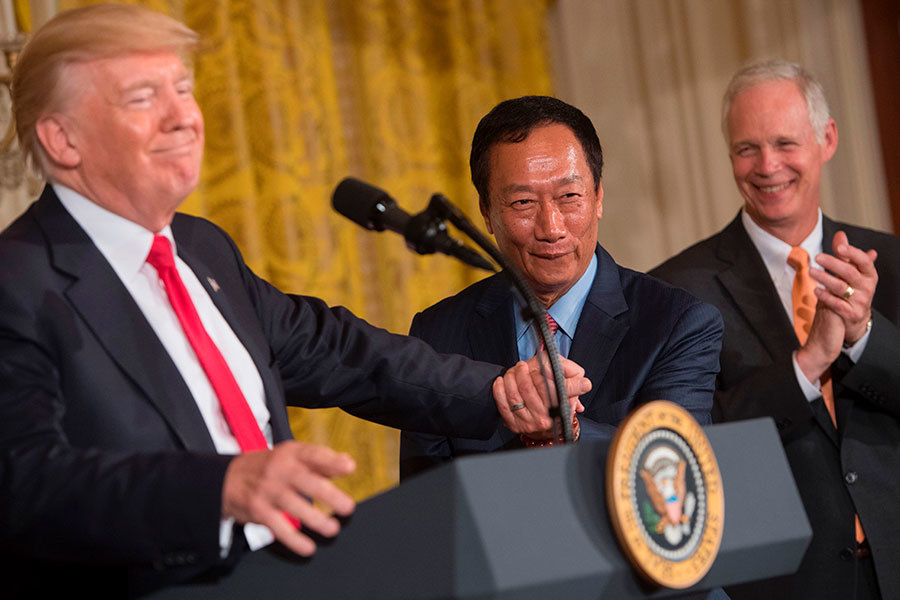 特朗普出席鴻海新廠動土儀式 美總統史上罕見