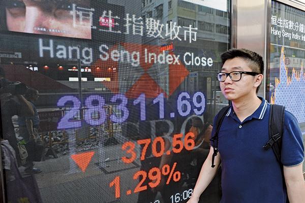 貿易戰升級中港股匯雙跌 恒指挫370點