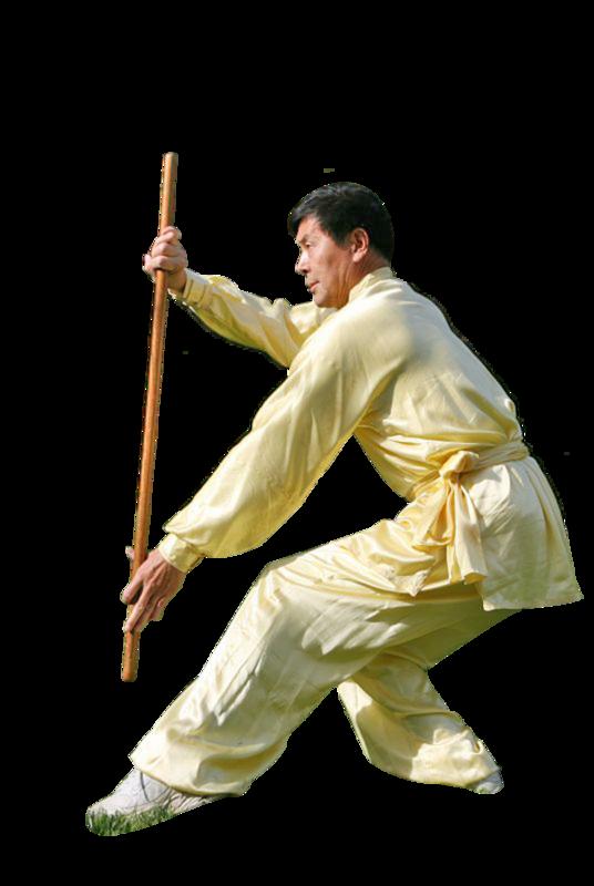 鞭桿,是李有甫先生武功絕技之一,內含刀劍槍棍招式,實用而且動作優美。圖為李先生正在演練鞭桿。(攝影:季媛/大紀元)