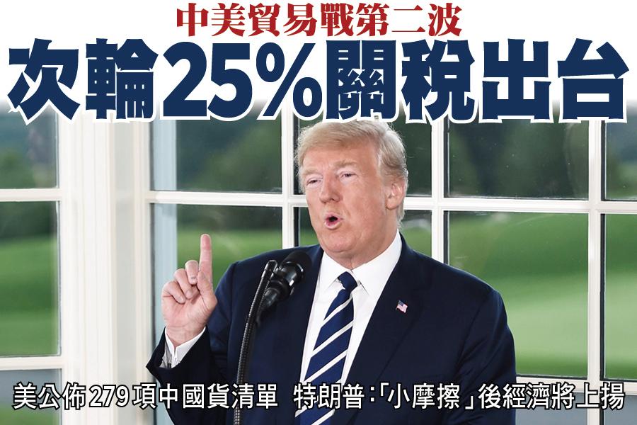 中美貿易戰第二波 次輪25%關稅出台