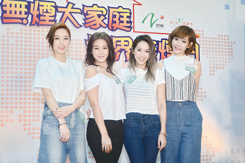 Super Girls出席反吸煙活動。(宋祥龍/大紀元