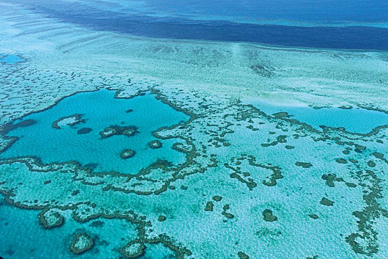 大堡礁聖靈群島。(SARAH LAI/AFP)