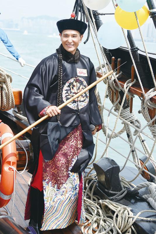 陳展鵬在港劇《張保仔》中飾演貝勒爺。(資料圖片)