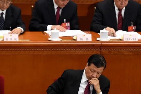 主管宣傳領域的中共常委劉雲山被外界認為處境不妙。圖為劉雲山2016年3月5日在北京兩會上。(WANG ZHAO/AFP/Getty Images)